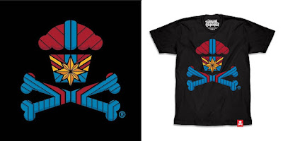 "Captain Marvel ""Captain Margarine Crossbones"" T-Shirt by Johnny Cupcakes"