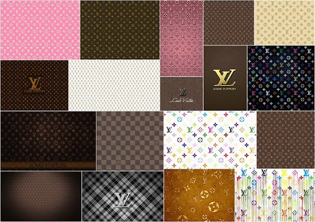 Louis Vuitton: Free Printable Paper.