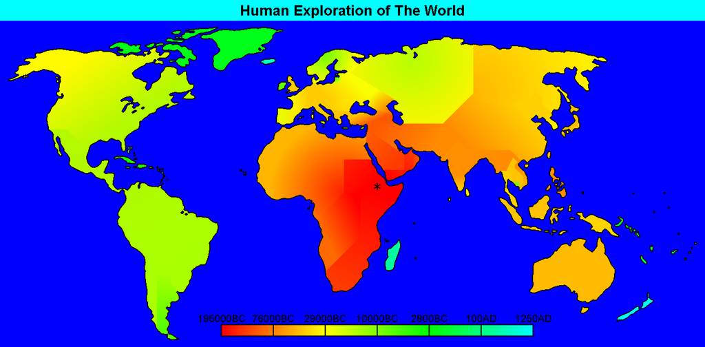 Human exploration of the world