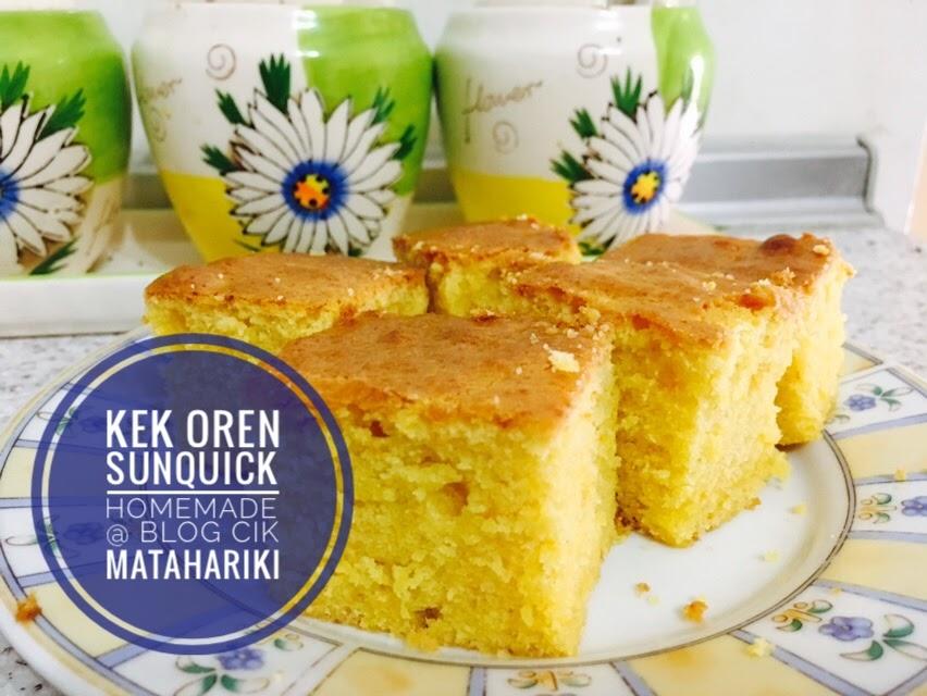 Resepi Kek Oren Sunquick Sukatan Cawan Yang Gebu Dan Sedap
