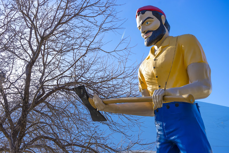 Lumberjack Muffler Man Things to Do in Flagstaff in One Day