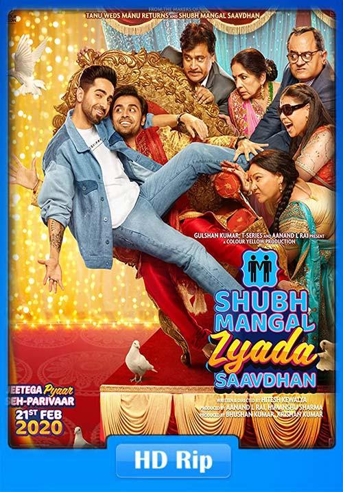 Shubh Mangal Zyada Saavdhan 2020 Hindi 720p WEBRip ESubs x264 | 480p 300MB | 100MB HEVC