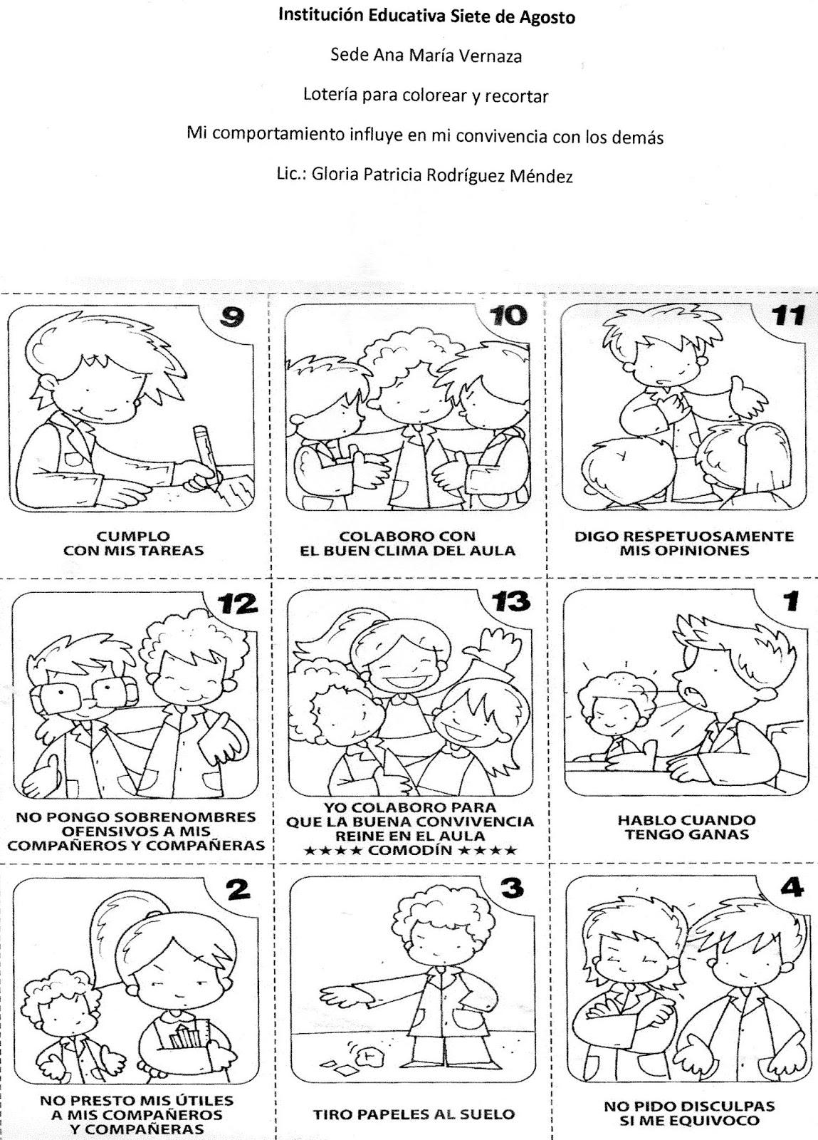 Dibujos Para Colorear Normas De Convivencia Dibujos Para Colorear