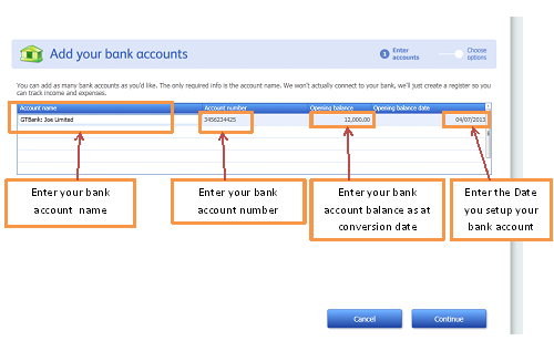 Quickbooks Banking How To Set Up Your Opening Bank
