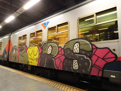 The subway is the heart of every real city. I would rather see my name roll by on a train than any wall or rooftop around town – Avido