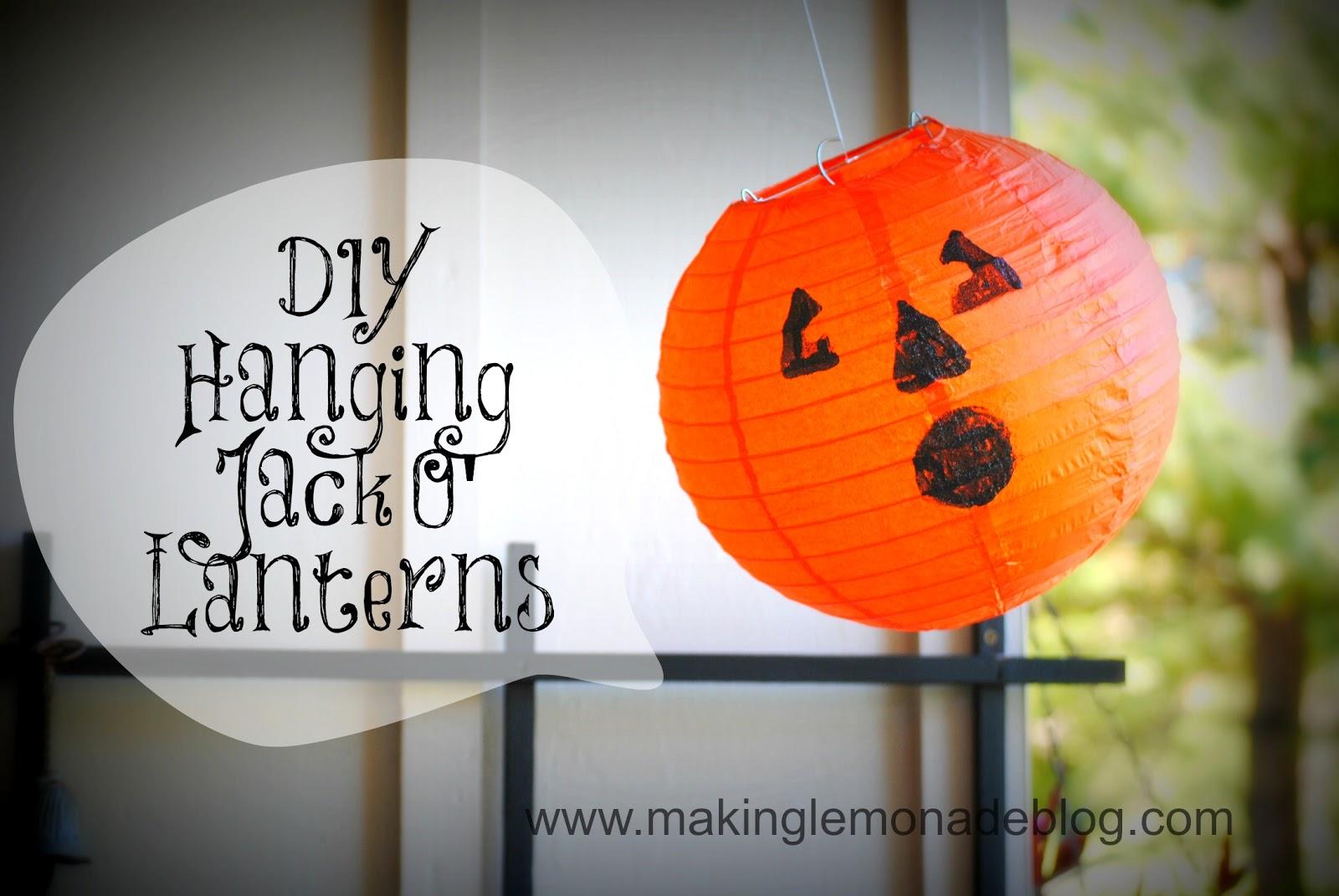 Pottery Barn Knock Off Hanging Pumpkin Lanterns Making