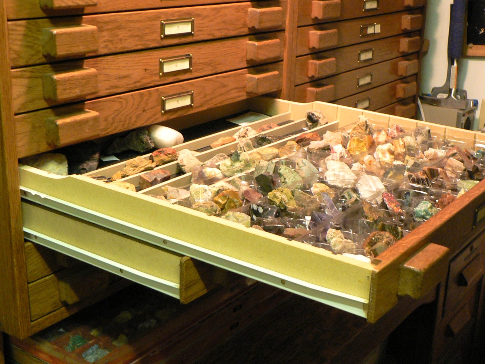 A Rock And Mineral Cabinet Using The Storage And Display