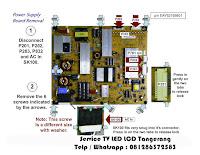 perbaikan power supply smart tv samsung lg sony polytron toshiba coocaa konka tangerang