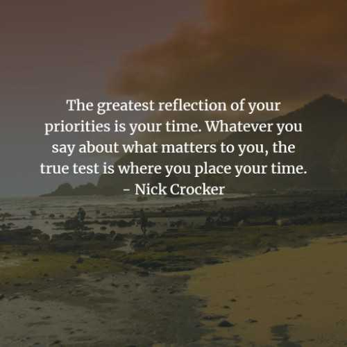Priorities quotes and sayings for a successful life