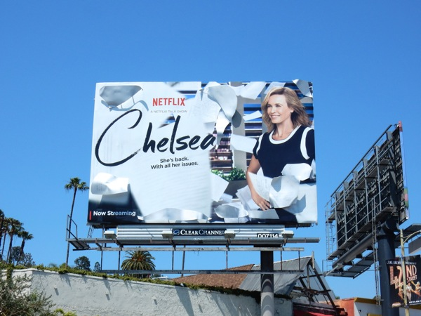 Chelsea talk show 3D billboard installation