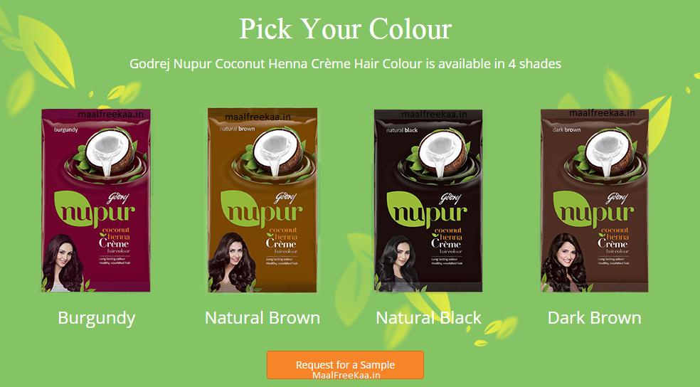 Get Free Sample Of Godrej Nupur Coconut Henna Creme Hair Colour