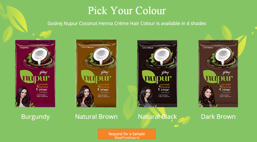 Get Free Sample Of Godrej Nupur Coconut Henna Cr 232 Me Hair