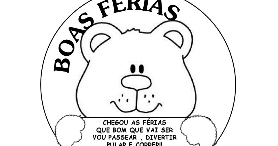 BOLINHA DE SABÃO: DESENHOS PARA COLORIR BOAS FÉRIAS