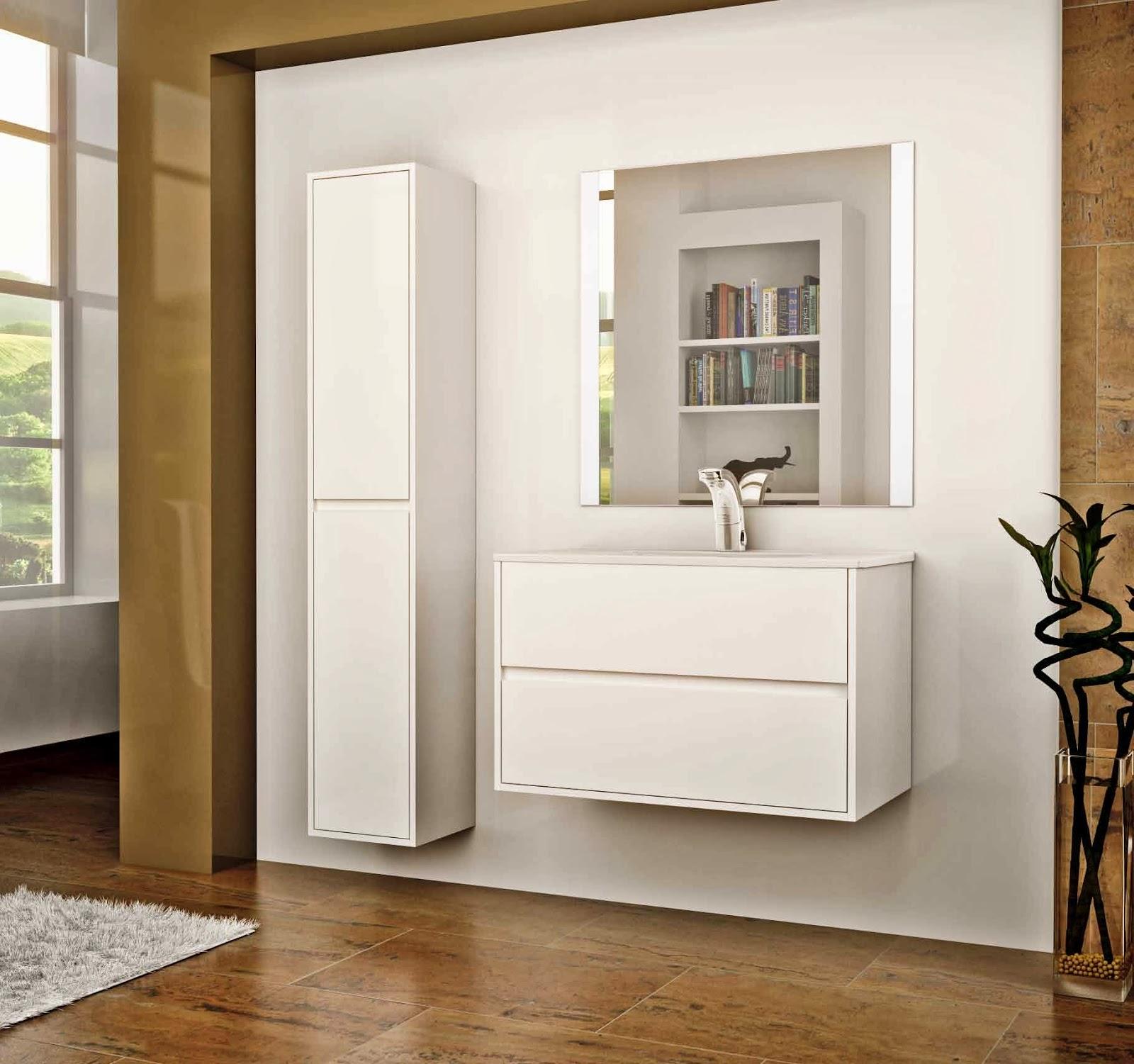 Muebles Bao Blanco Awesome Beautiful Mueble Bao Blanco De Bao  # Muebles Lacados En Blanco Baratos