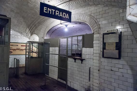 Taquilla estacion fantasma de Chamberi. Madrid