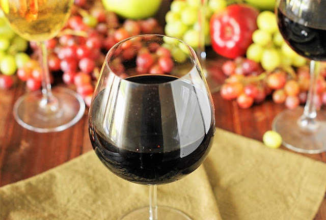 Wide Bowled Glass for Drinking Red Wines Image