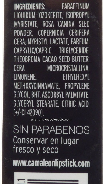 ingredientes exfoliante labial camaleon