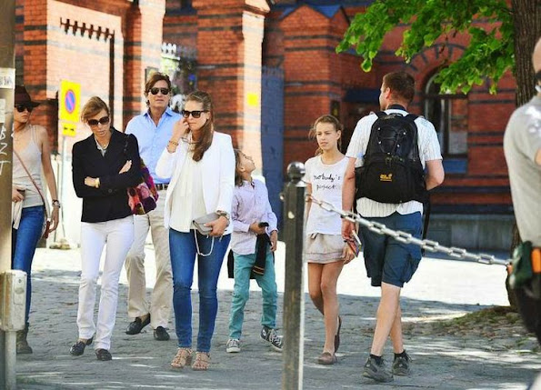 Swedish Princess Madeleine and her husband Chris O'Neill have spent time in Stockholm with Chris O'Neill's family.