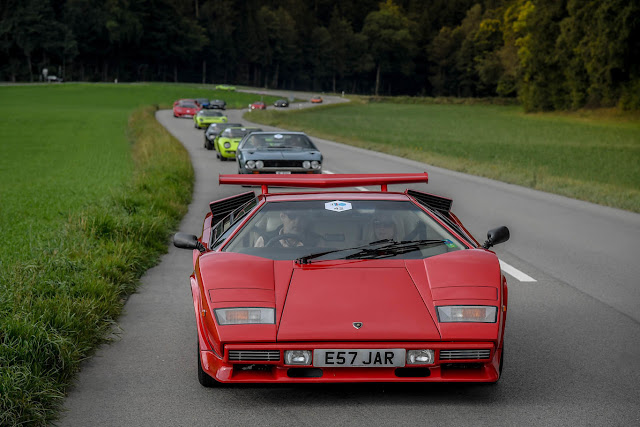 Caravan of dreams Tens of Lamborghini together in Switzerland