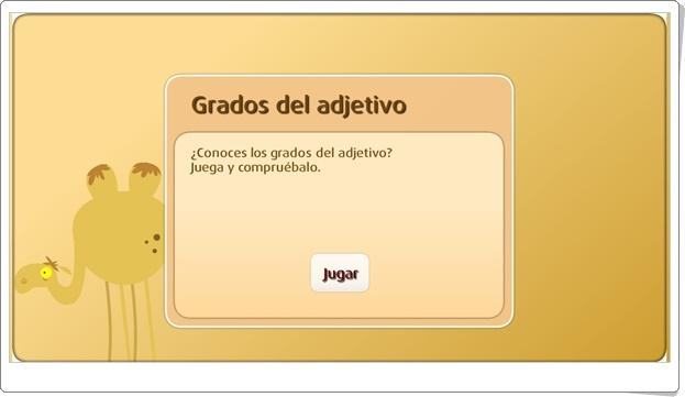 """""""Grados del adjetivo"""" (Juego de Lengua Española de Primaria)"""