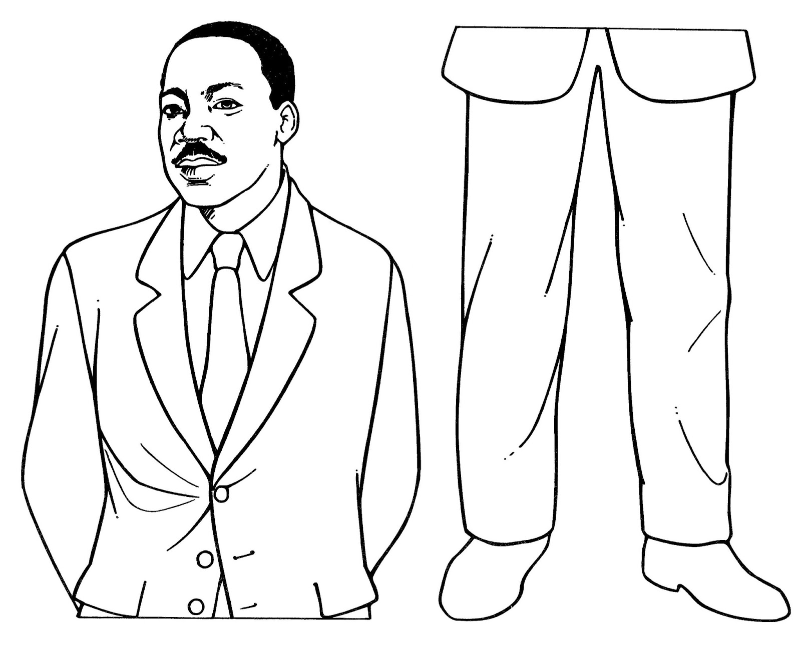 Mostly Paper Dolls Too Martin Luther King Jr Pattern