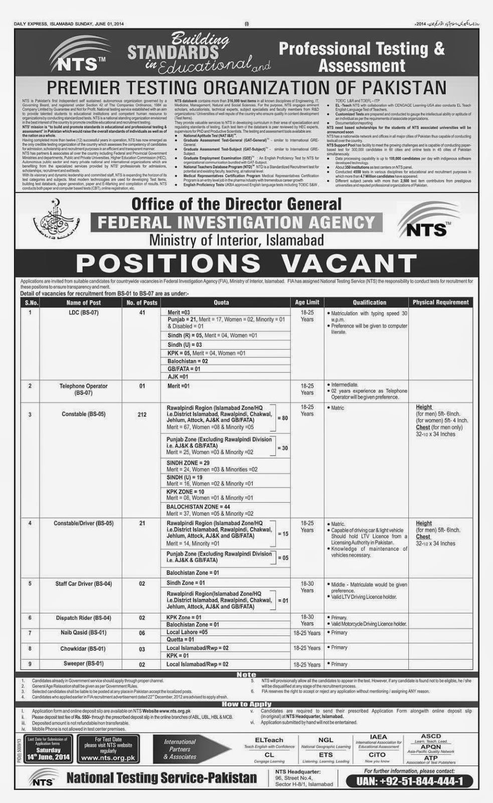 Federal Ministry Of Interior Vacancies