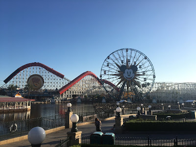 A overview of the entire Pixar Pier at Disneyland's Disney California Adventure