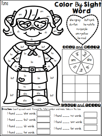 sight word worksheet: NEW 609 VALENTINE SIGHT WORD WORKSHEETS
