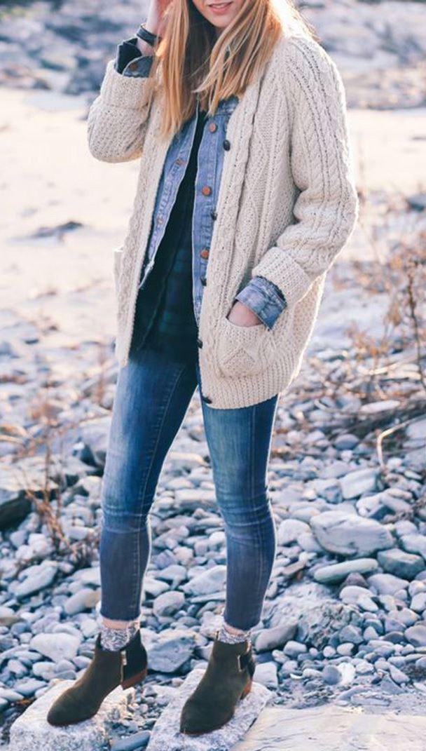 Irish Knit Cardigan Sweater