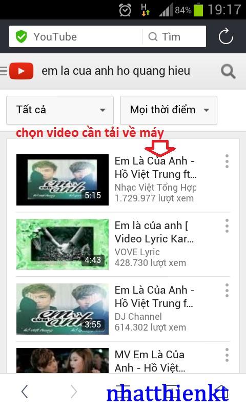 Hướng dẫn tải video youtube trên điện thoại di động 2015 - download video on youtube by mobile