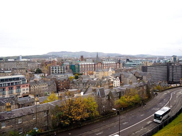 Views from the Esplanade outside Edinburgh Castle, Royal Mile, Edinburgh