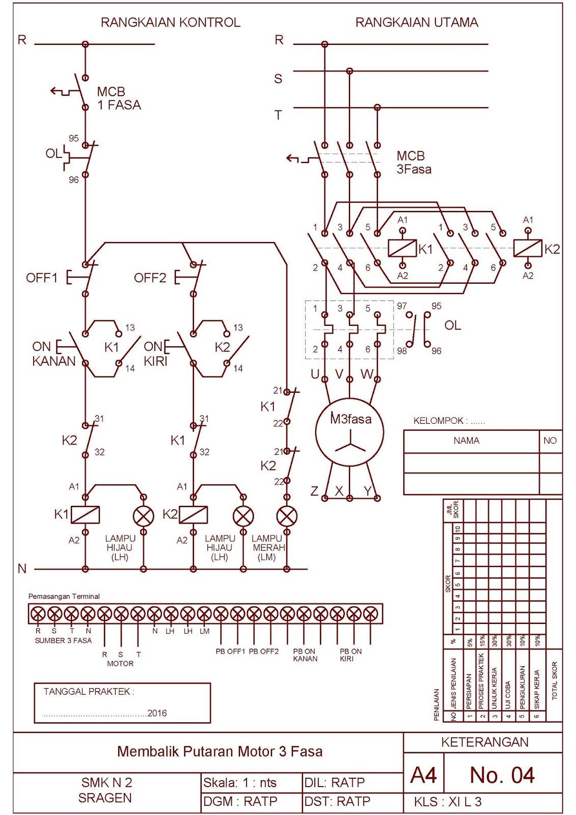Job Sheet Praktek Instalasi Motor Listrik tema : Membalik Putaran ...