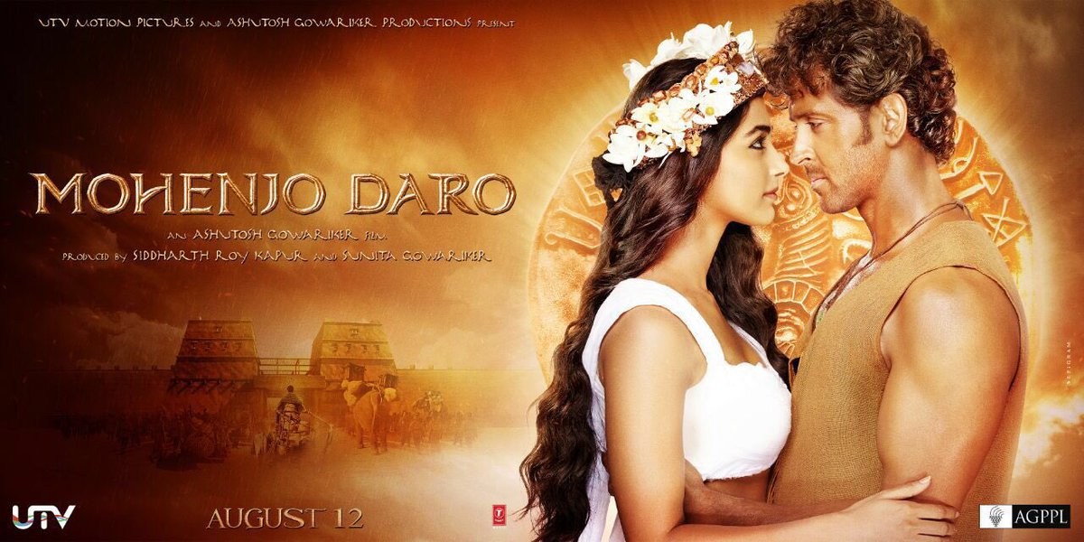 Complete cast and crew of Mohenjo Daro  (2016) bollywood hindi movie wiki, poster, Trailer, music list - Hrithik Roshan and Pooja Hegde, Movie release date 12 August 2016