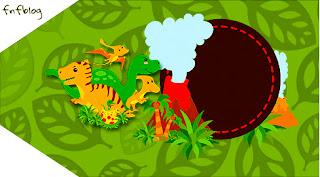 Para marcapáginas de Fiesta de Dinosaurios.