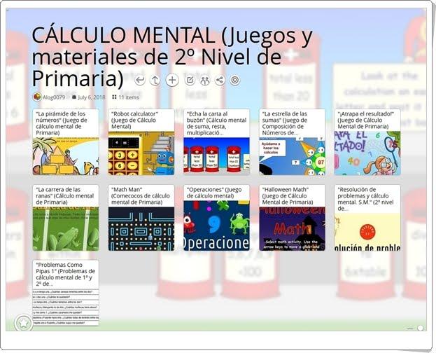 """""""11 Juegos y materiales para la práctica del CÁLCULO MENTAL en 2º de Primaria"""""""