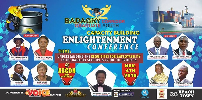 Badagry Deep Seaport & Crude Oil Projects: Badagry Corridor Graduate-Youths Empowerment Conference Holds ASCON