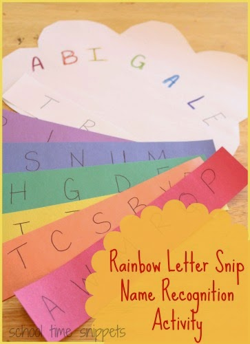 rainbow name recognition craft