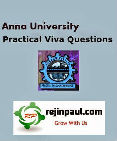 Anna Univeristy Lab viva Questions