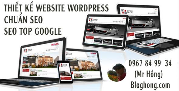 Nhận thiết kế website bằng wordpress giá rẻ