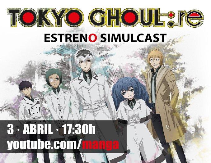 Tokyo Ghoul:re anime simulcast Selecta Visión