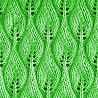 Candle Flame Lace Knitting Stitch. Lace Knitting Pattern. Knitting Stitches. Worked in the round.