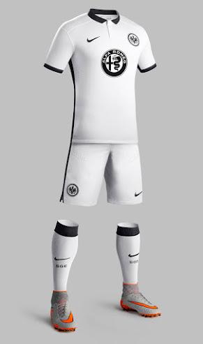 913c73df54f The new Eintracht Frankfurt 2015-2016 Away Kit introduces a classic design  for the German Bundesliga club. Traditionally