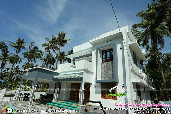 Completed villa with furnished interiors