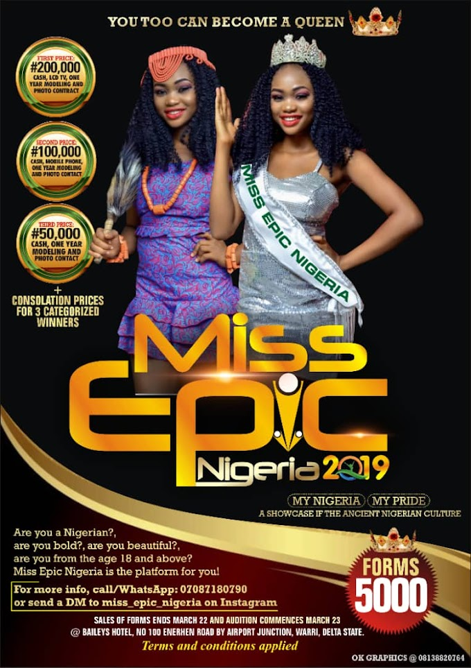 Miss Epic Nigeria 2019 Beauty Pageant