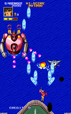 Mazinger Z+arcade+game+portable+shoot'em up+videojuego+descargar gratis