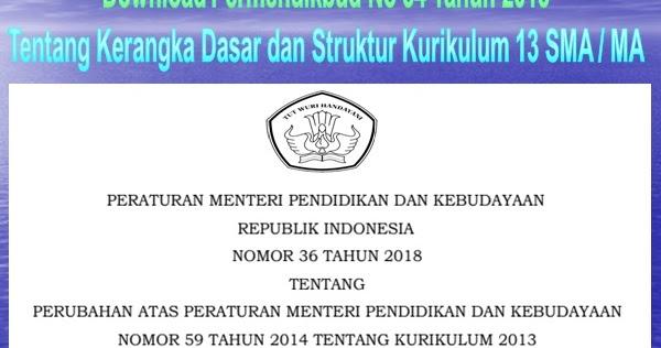 Download Permendikbud No  Tentang Kerangka Dasar Dan Struktur Kurikulum  Sma Ma Dion Karya