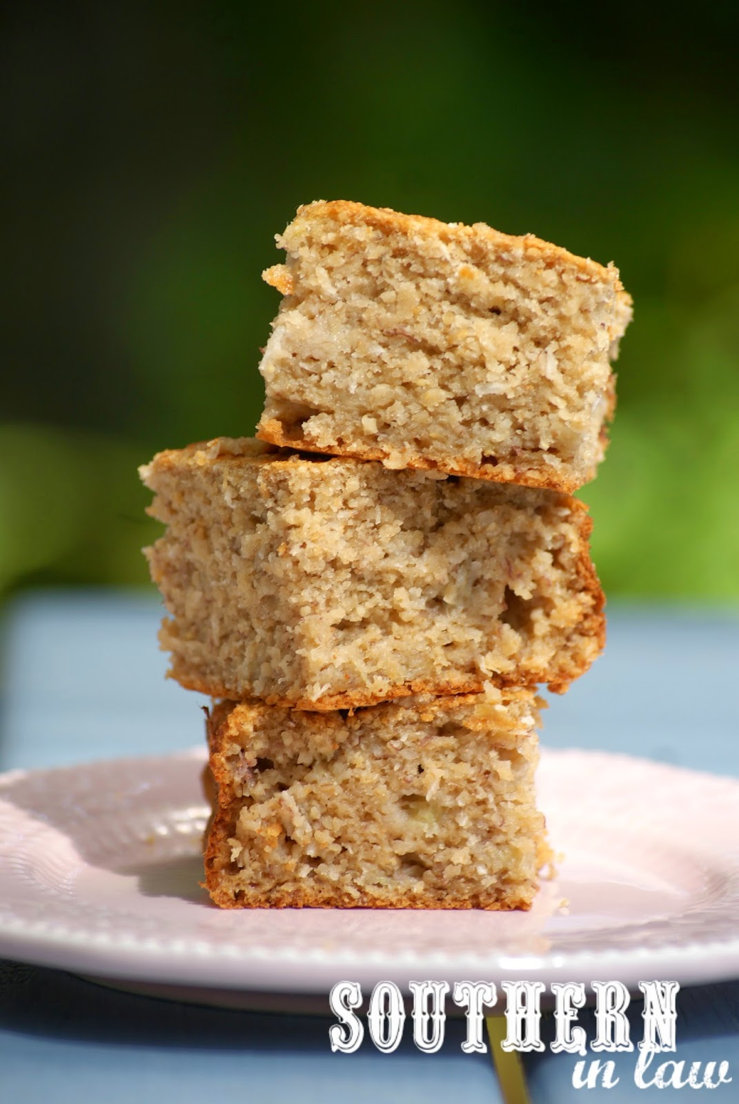 Gluten Free, Healthy Banana Coconut Oat Cake Recipe with No Refined Sugars