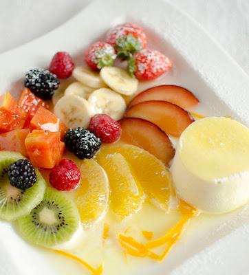 Parfait allo zenzero e frutta
