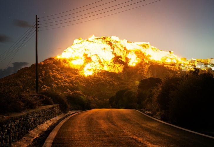 huge Explosion illusion