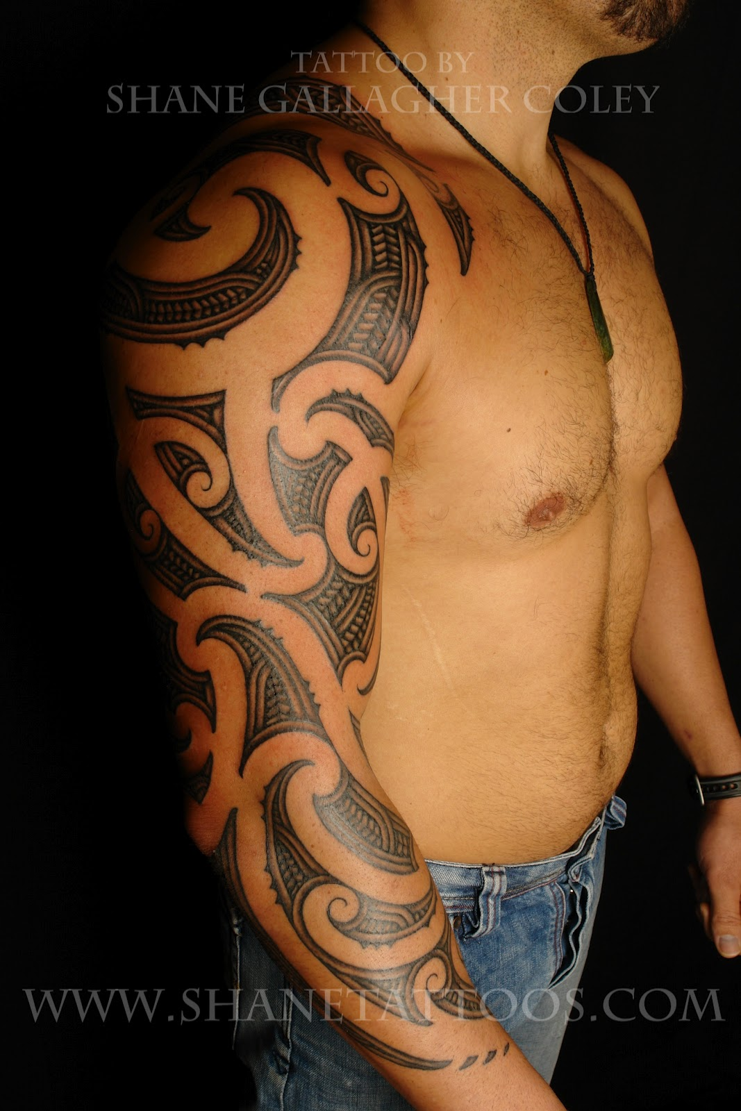 MAORI POLYNESIAN TATTOO: Maori Sleeve Tattoo On Mana